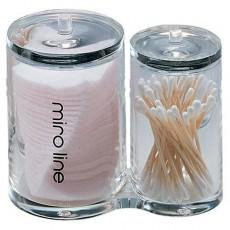 화장솜 면봉 케이스 (원형 플라스틱)